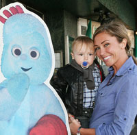 Iggle Piggle, Jenny Frost and a star-struck tot